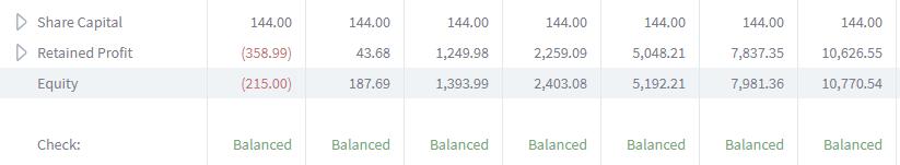 balance sheet brixx equity