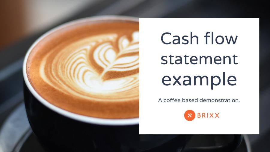 Coffee shop Cash flow statement example